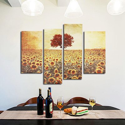 Forest Gump 4pcs Frameless Oil Painting Sunflower Canvas Modern Wall Art Home Decoration Paper Art Di Lapak Forest Gump Bukalapak