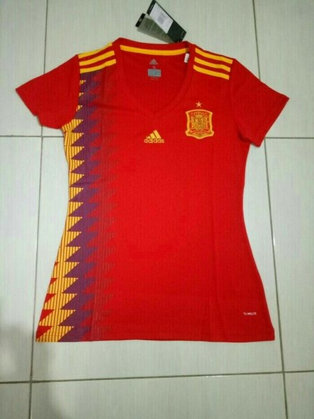 Murah JERSEY BOLA LADIES SPANYOL HOME WORLD CUP PIALA DUNIA 2018 GRAD