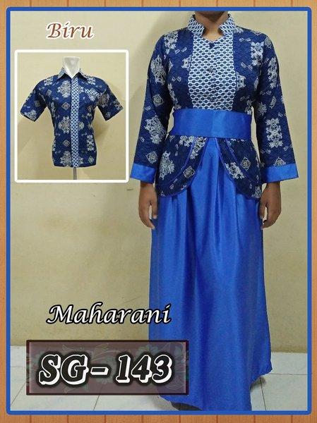 Sarimbit Gamis Batik Couple Baju Pasangan Batik Pekalongan Murah 04