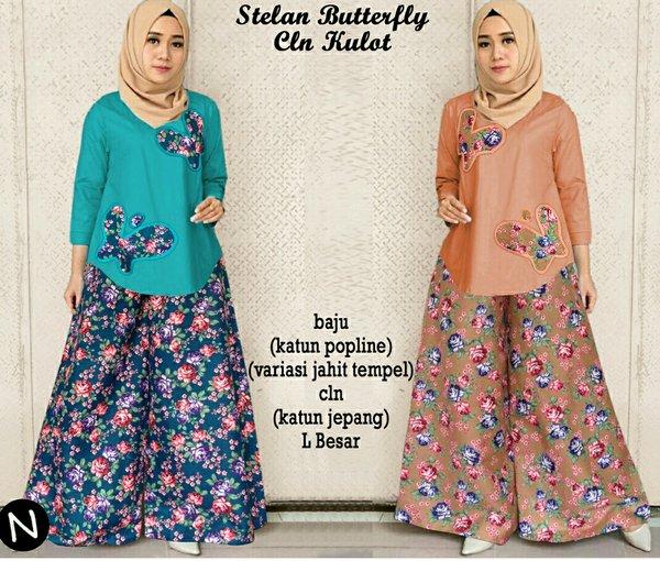 butterflow Setelan blouse atasan & celana kulot panjang