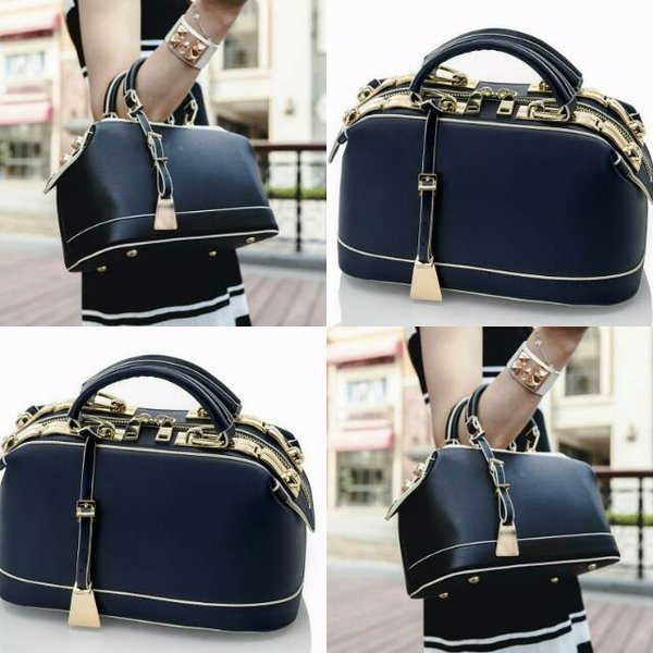 RESTOCK Georgia Doctor Bag 88073 Tas Wanita Blue Gray Brown Maroon Peach Black - Tas Terkini