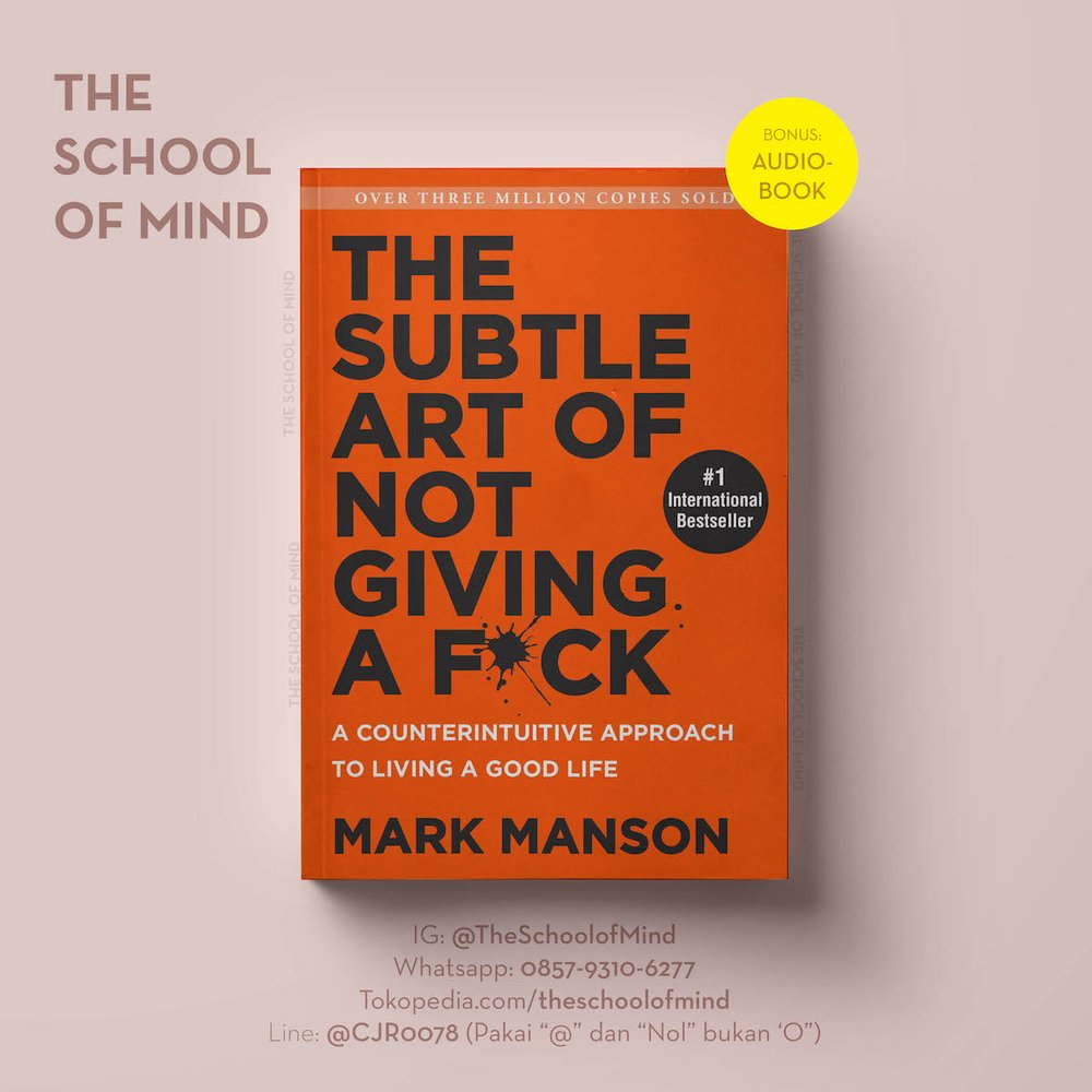 Jual The Subtle Art Of Not Giving A Fuck Mark Manson Ebook