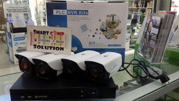 CCTV Camera Silicon PLC NVR Kits 4 Camera