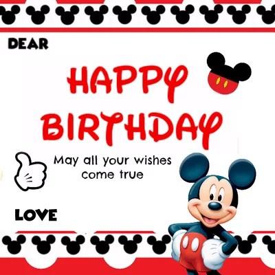 Jual Kartu Ucapan Selamat Ulang Tahun Mickey Polka 7 Di Lapak Baju