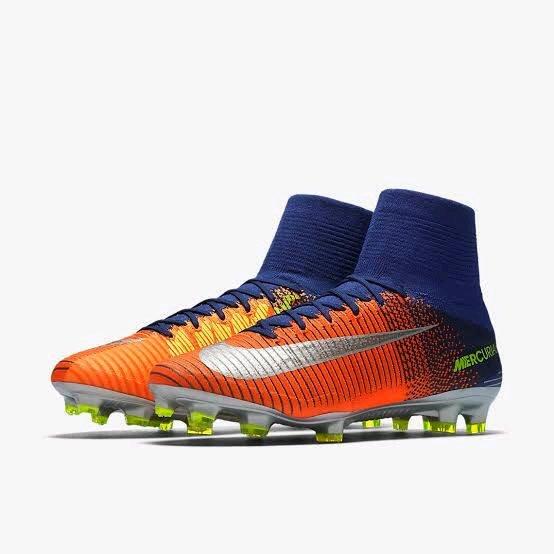 Sepatu Bola Nike Mercurial Superfly Orange Blue