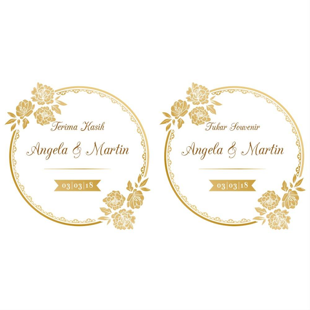 Jual Kartu Ucapan Terima Kasih Kupon Souvenir Pernikahan 3 Di
