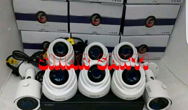 PROMO MURAH PAKET CCTV GLENZ 6 CAMERA 5MP 2560P REAL  LENGKAP TINGGAL PASANG