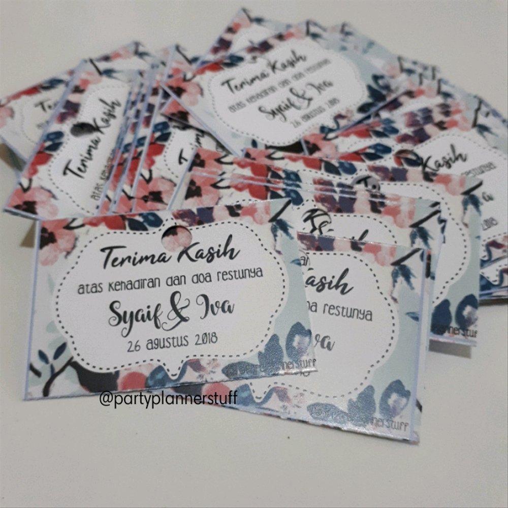 Jual Tag Souvenir Kartu Ucapan Pernikahan Kartu Ucapan Terima Kasih