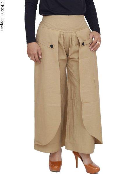 Celana Kulot Wanita Polos bahan katun Baju Muslim I Gamis