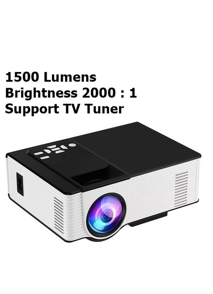 HIPLAY VS314 Mini Proyektor Projector 1500 Lumens  TV Tuner