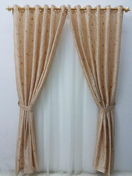 Gorden jendela- hordeng minimalis D- taffeta bordir bunga kecil