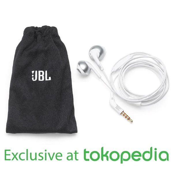 JBL T205 Earphone - Black - Exclusive Tokopedia