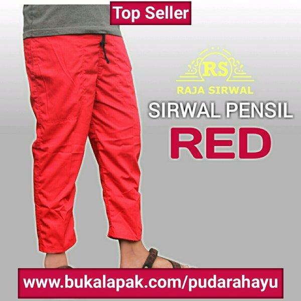 sirwal pensil red
