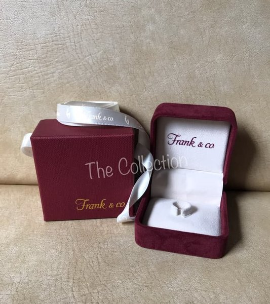 Murah small BOX Cincin Beludru Box Karton Frank n Co Original Tempat Ring
