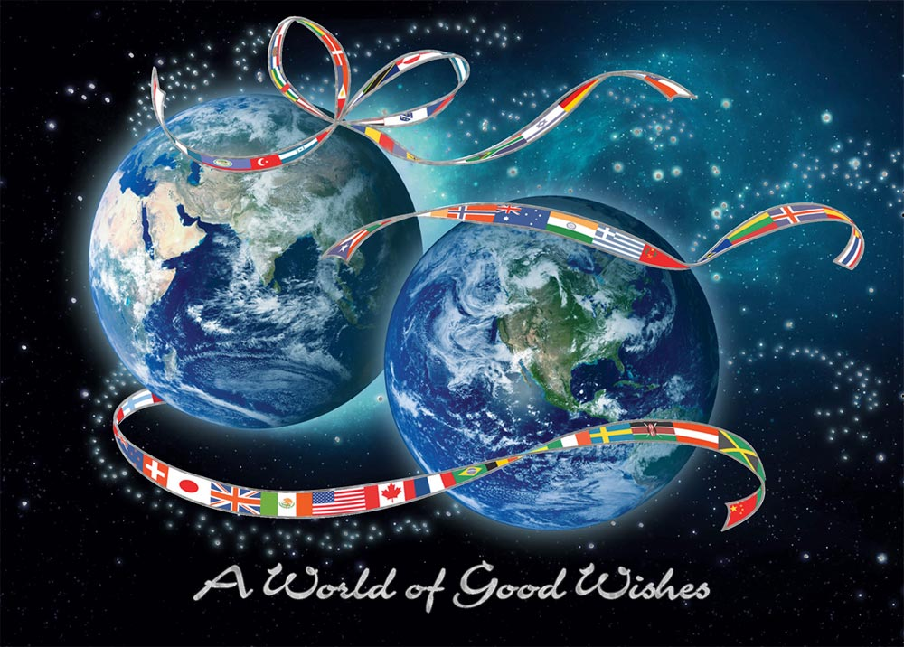 World Wide Wishes Global Holiday Card Flags From CardsDirect
