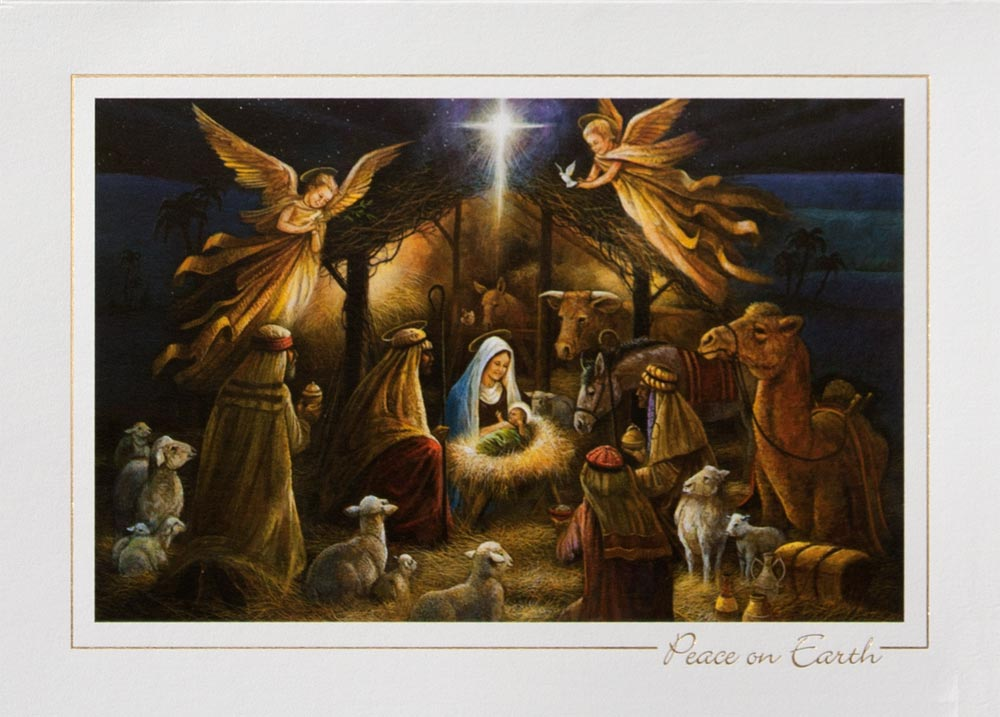 Radiant Nativity Nativity From CardsDirect