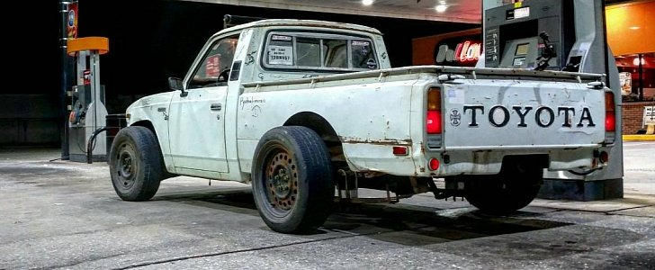 1977 Toyota Pickup Receives Turbocharged Ls1 V8 And Crown Victoria Suspension Autoevolution