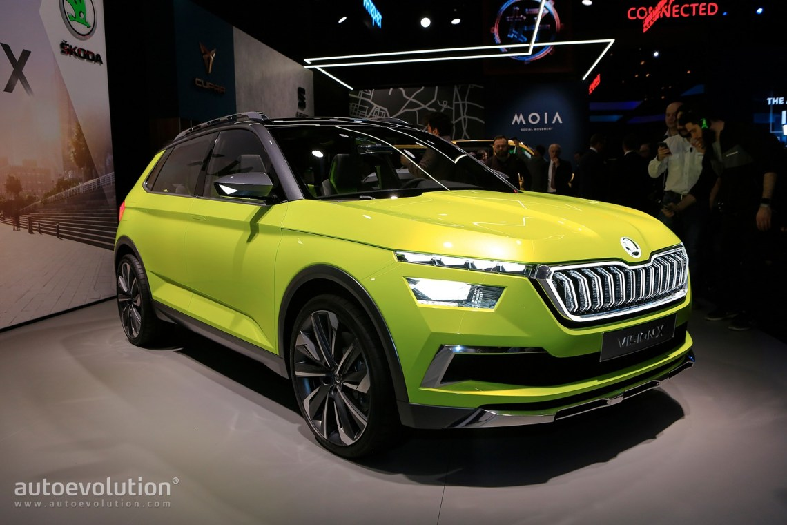 2019 skoda small suv previewedvision x concept, rides on new