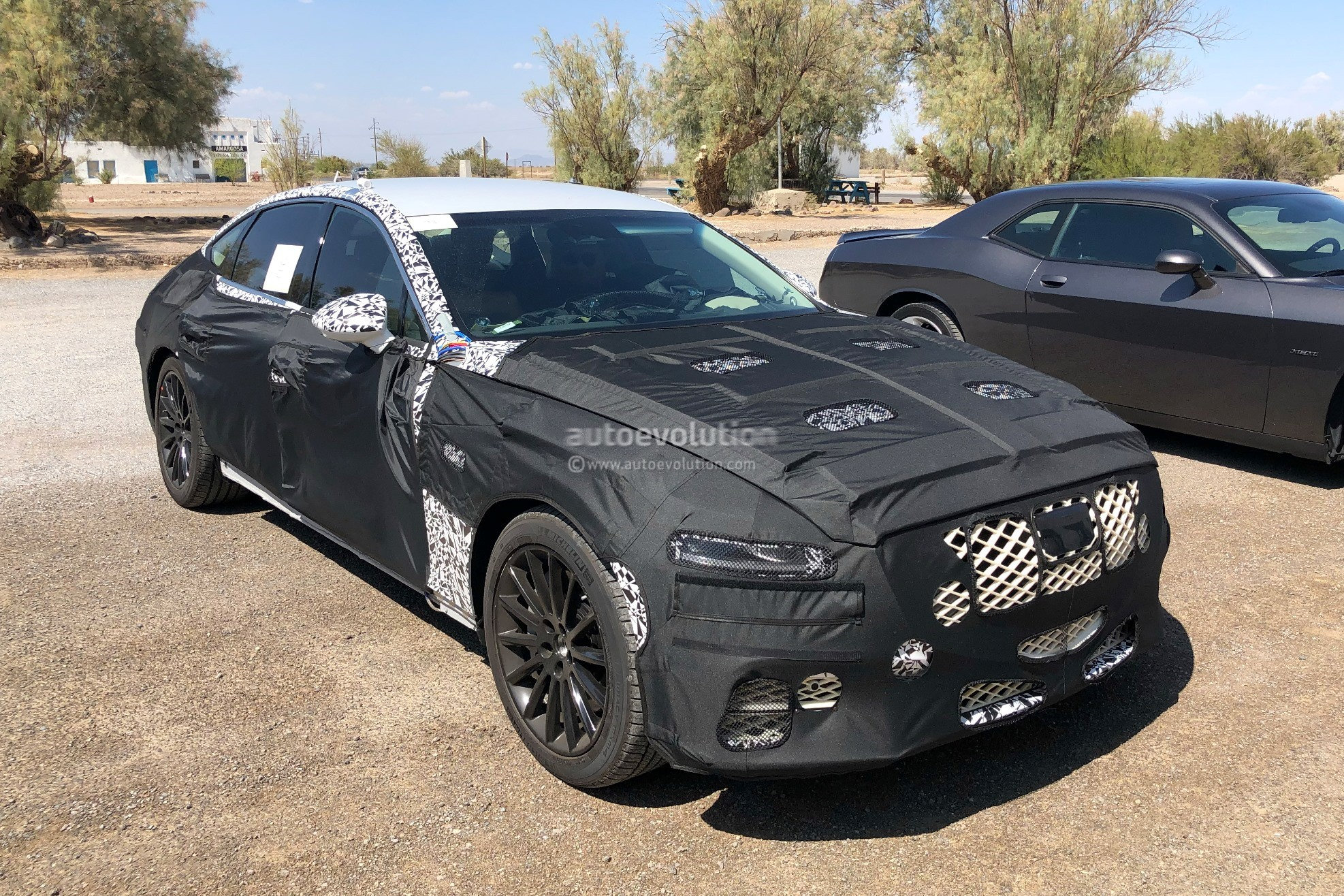 2020 Genesis G80 Spied With G70 Inspired Front Grille