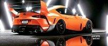 "2020 Toyota Supra ""Biplane"" Has Monster Rear Wing, Great Span Too"