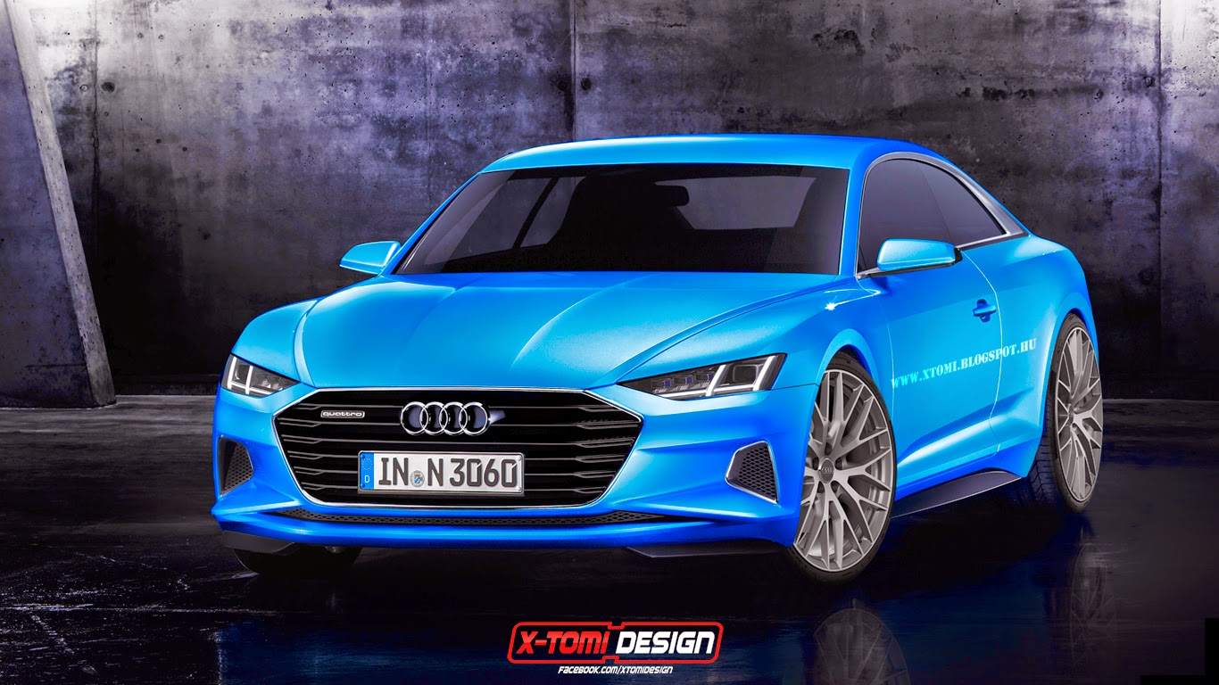2017 Audi A9 Rendered As Production Coupe Based On Prologue Concept Autoevolution