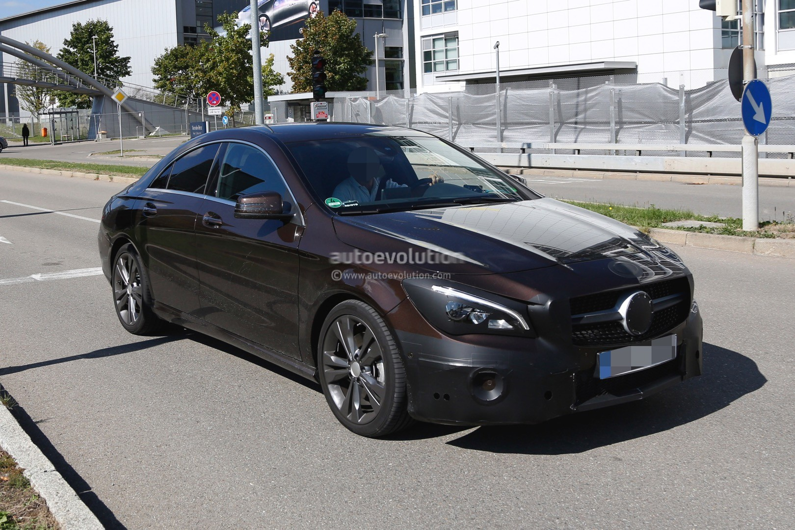 2017 Mercedes Benz CLA Class Facelift Spied With Minimal