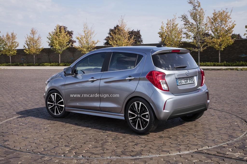 2017 Opel Karl Vauxhall Viva Facelift Rendered