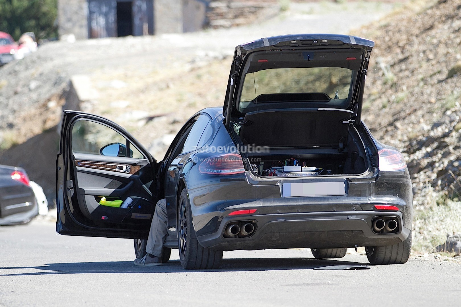 2017 Porsche Panamera Interior Partially Revealed In