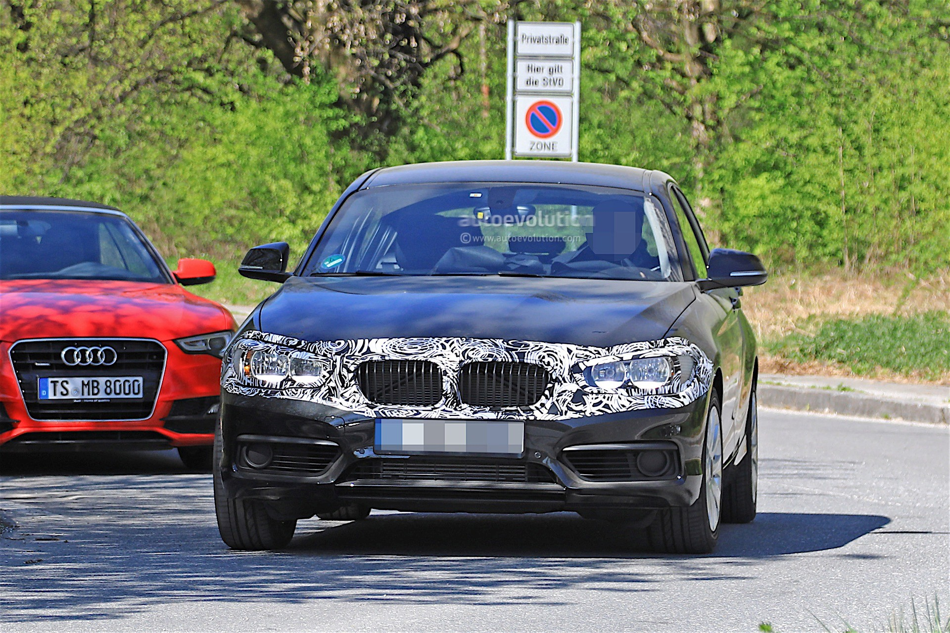 2018 BMW 1 Series Facelift Spied With Less Camouflage In