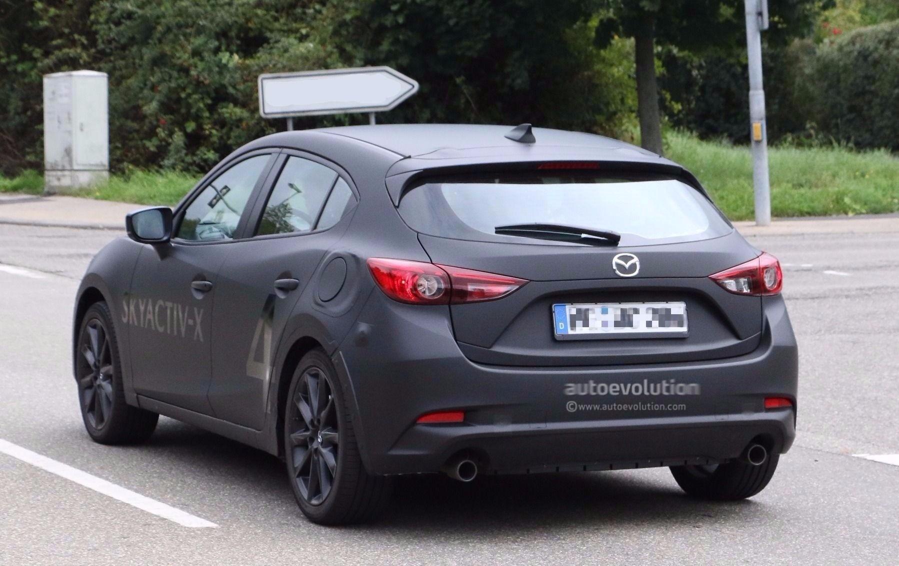Spyshots 2019 Mazda3 SkyActiv X Mule Testing With 2017