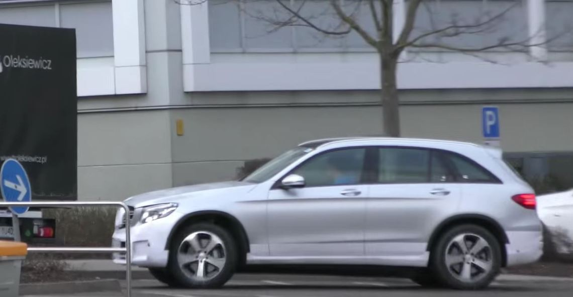 mercedes-benz eq electric suv spied next to glc, makes weird