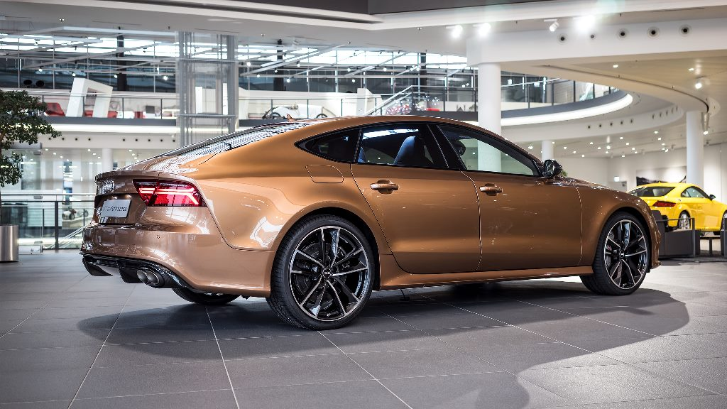 Audi RS7 Gets Zanzibar Brown Paint Performance Exhaust