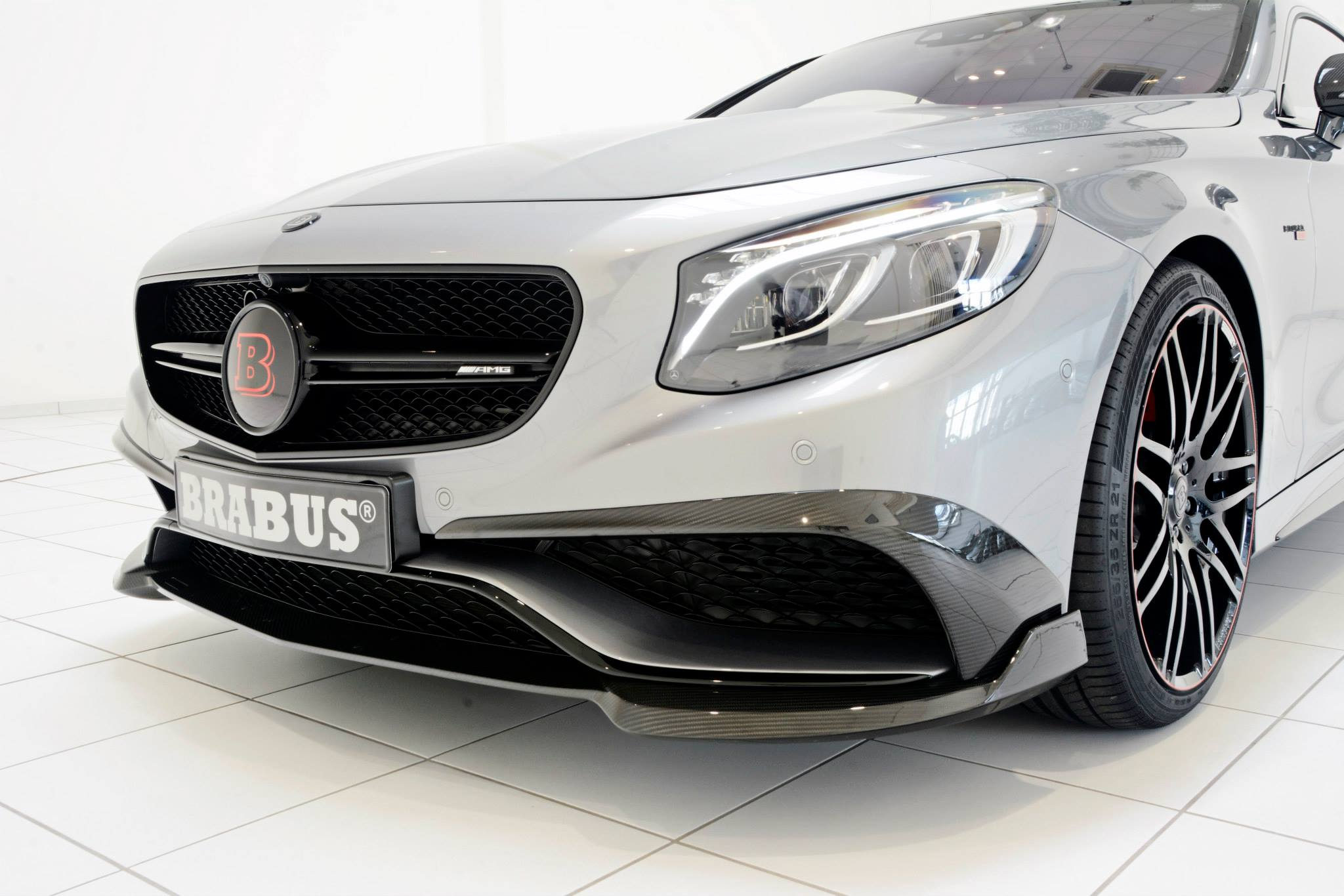 Brabus 850 Package Tunes S63 AMG Coupe With Red Leather