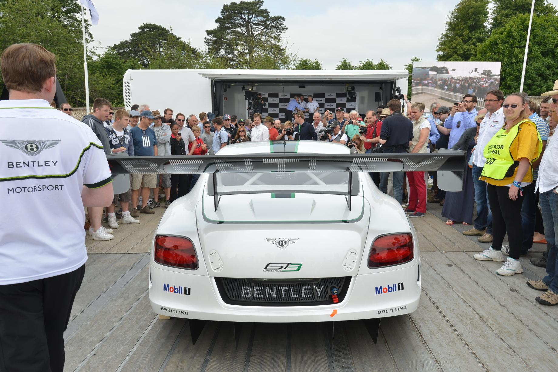 Goodwood 2013 Bentley Continental GT3 Revealed Live