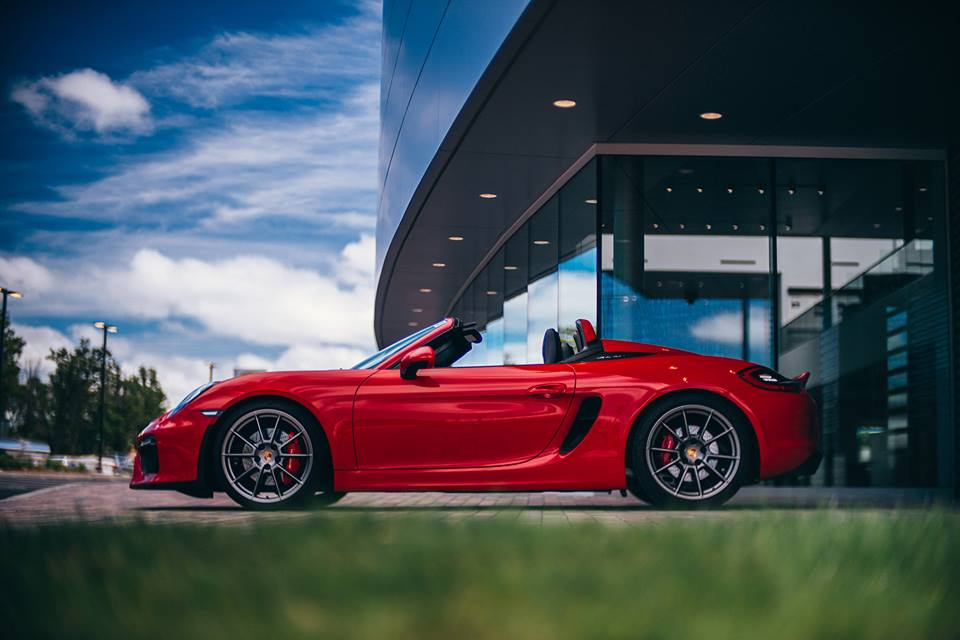 Guards Red Porsche Boxster Spyder With Color Matched