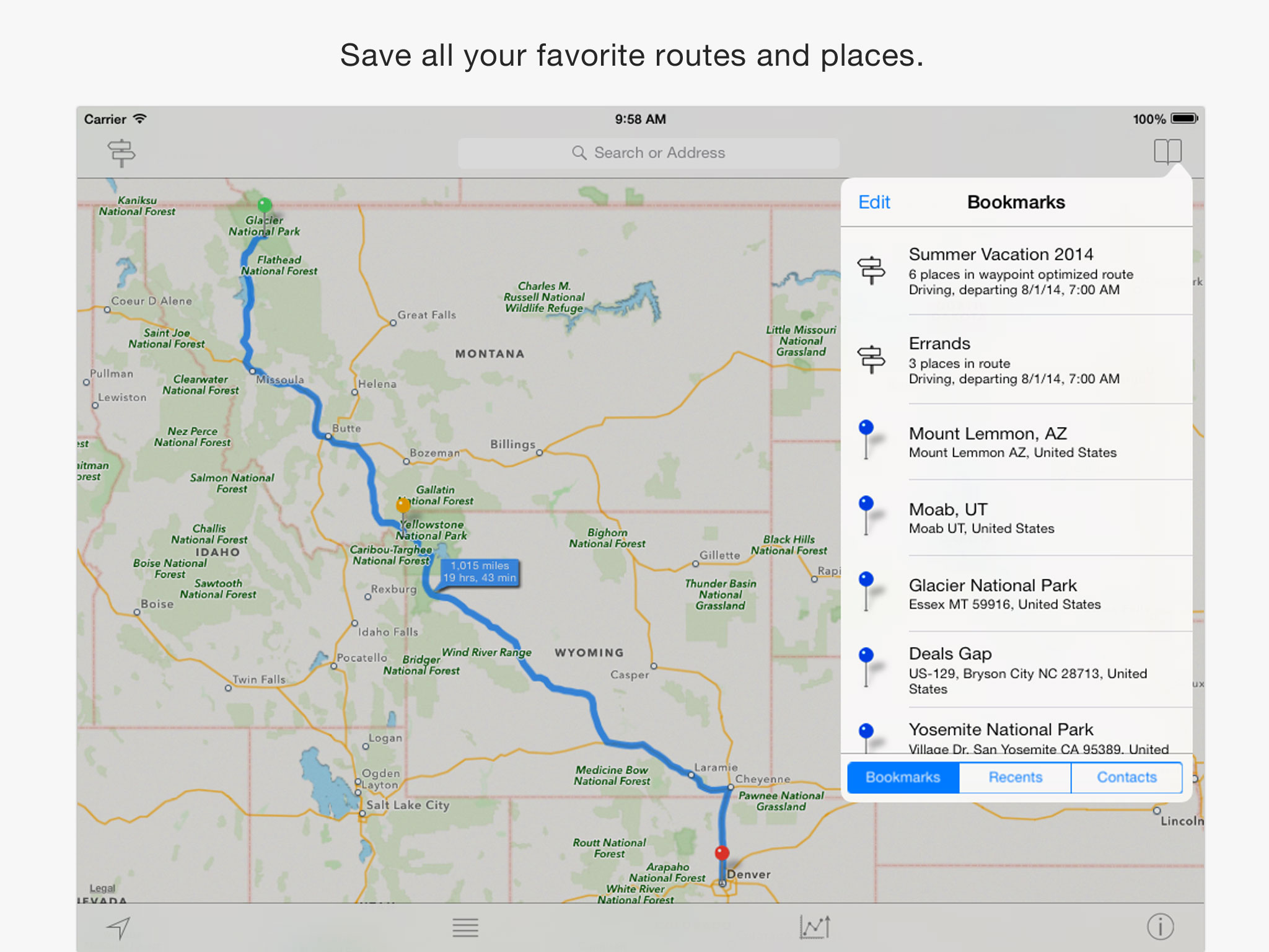 Inroute The Intelligent Route And Road Trip Planner
