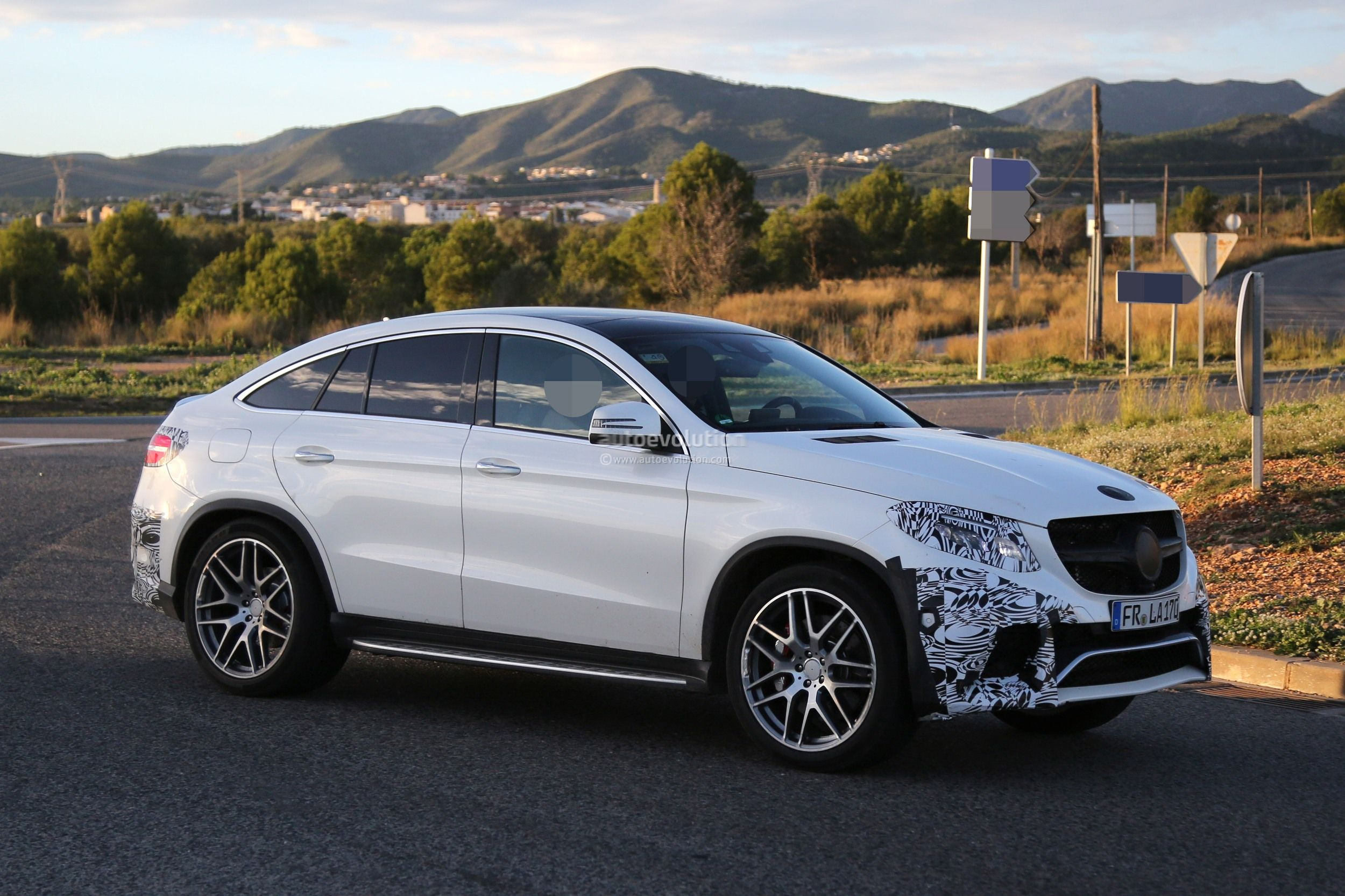 Mercedes Benz GLE 63 AMG Coupe Spied In Production Ready