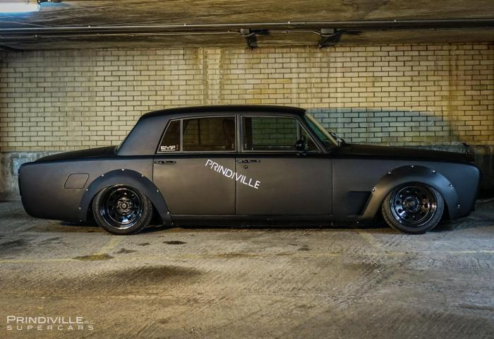 Murdered Out Rolls Royce Silver Shadow Looks Out Of This World