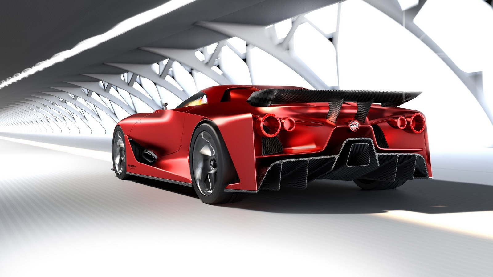 Nissan 2020 Vision Gran Turismo Turns Fire Knight Red
