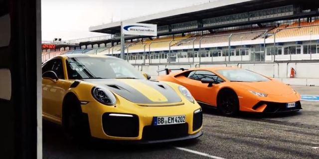 Image result for LAMBORGHINI HURACAN VS PORSCHE 911 GT2