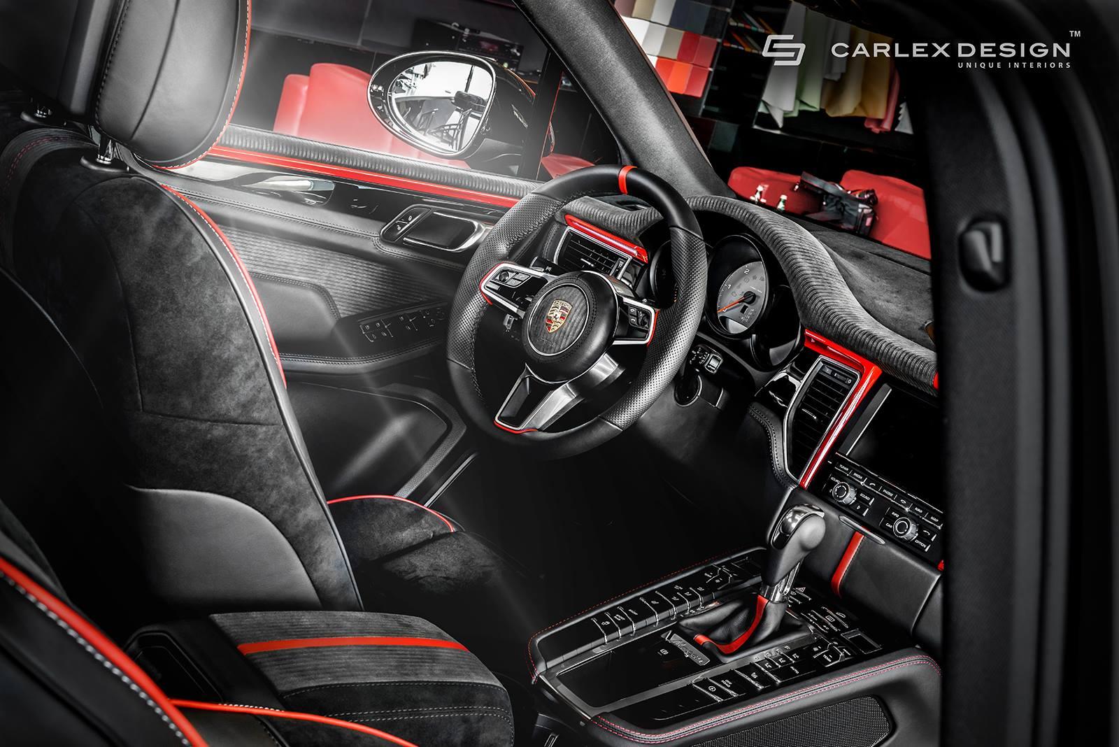 Porsche Macan Gets A Berserk Red And Black Interior