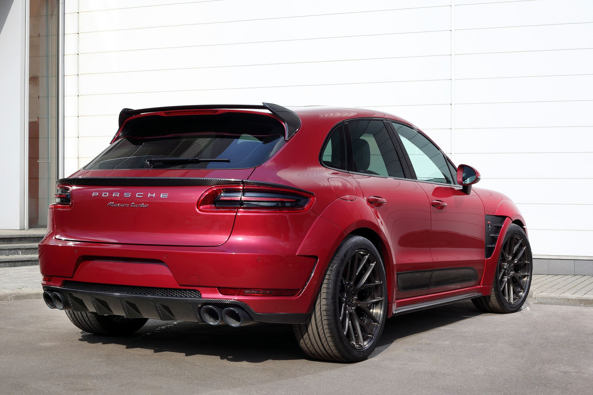 Porsche Mancan URSA By TopCar Gets Cherry Red Paint And