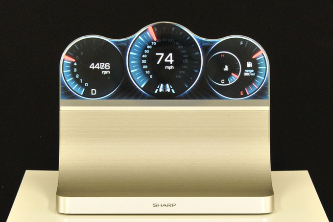 Sharp Unveils Free Form Igzo Display Say Goodbye To Rectangular Dash Screens on 2004 Toyota Prius Warning Lights