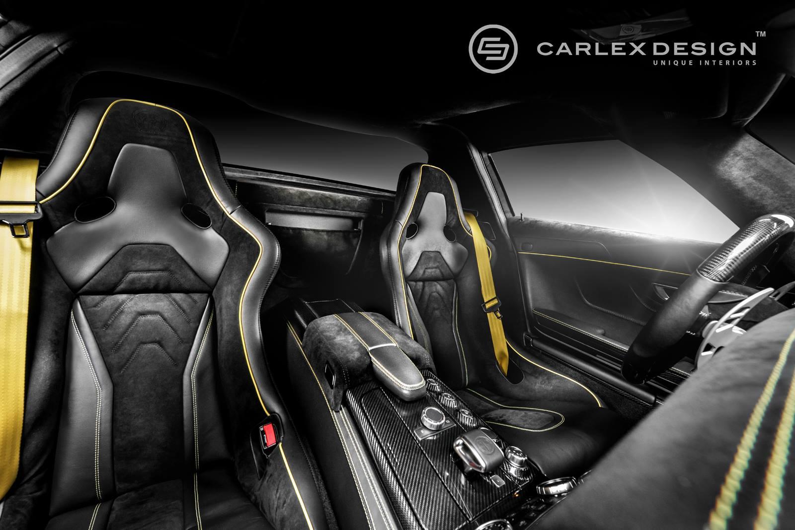 SLS AMG Black Series Interior Gets Drenched In Alcantara