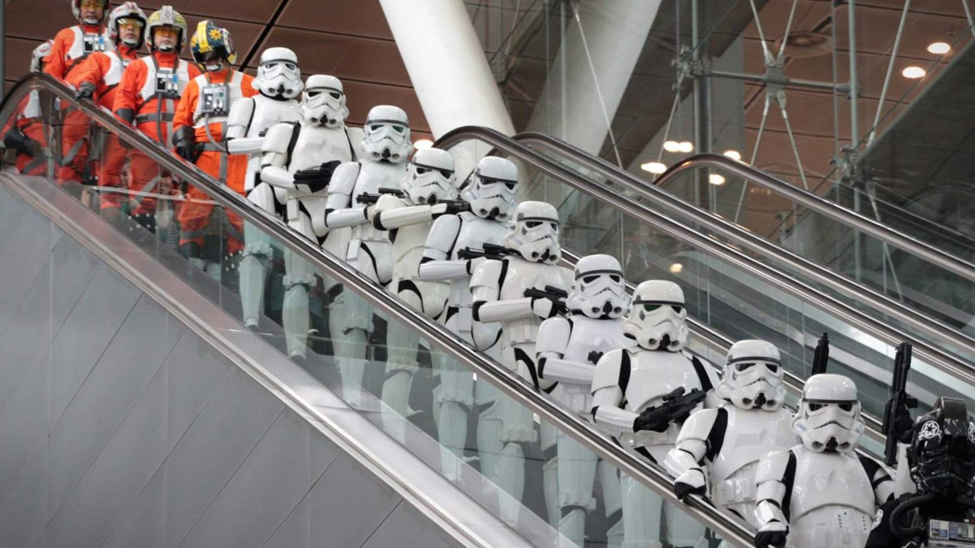 Stormtroopers And Starfighter Pilots Take Over Changi Airport As X Wing And TIE Fighter Land
