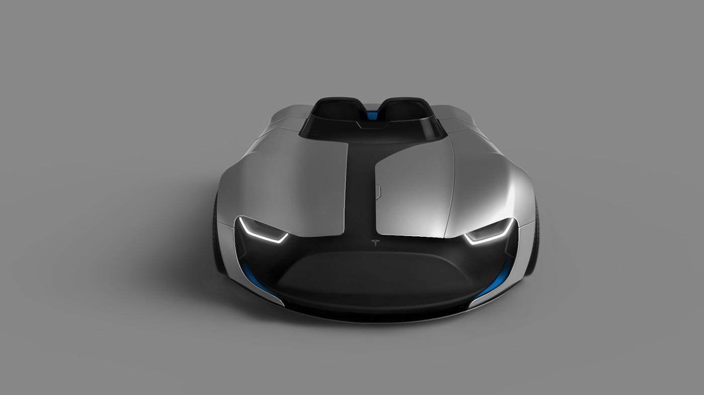 Tesla Roadster Fan Render Reminds Us Of BMWs Gina Concept Autoevolution