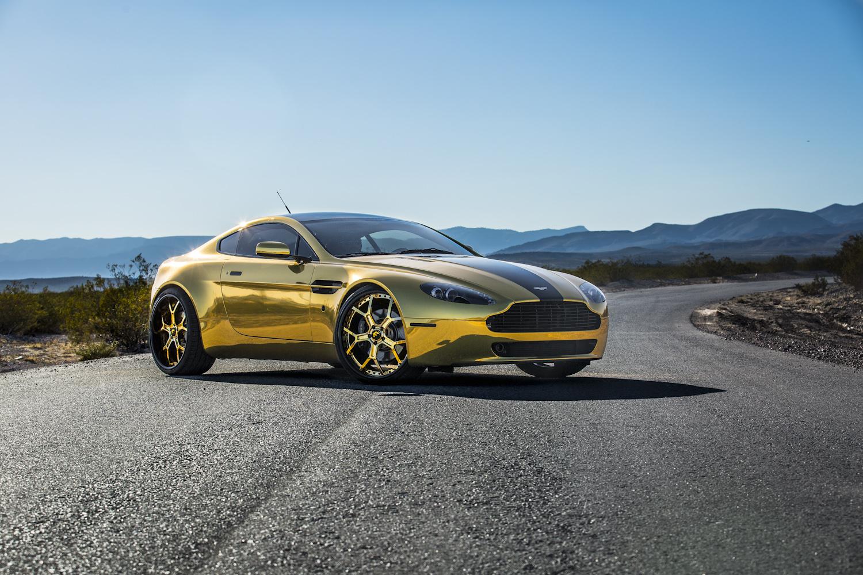 Gold Aston Martin On Gold Forgiato Wheels Autoevolution