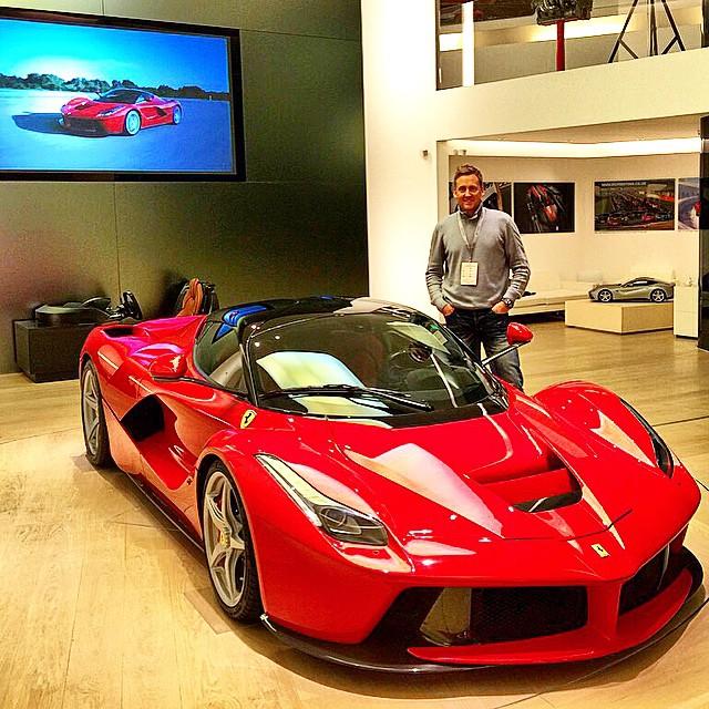 Golfer Ian Poulter Gets Fitted For New Ferrari LaFerrari