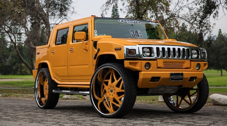 Hummer On 34 Inch Forgiato Wheels Deserves The Bad Kind Of