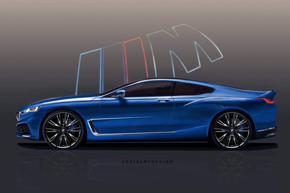new bmw 8 series rendered based on official teaser, 2019 bmw m8